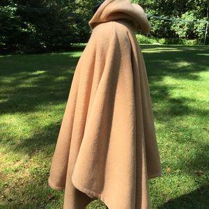 DENIM & CO Hooded Fleece Poncho Cape